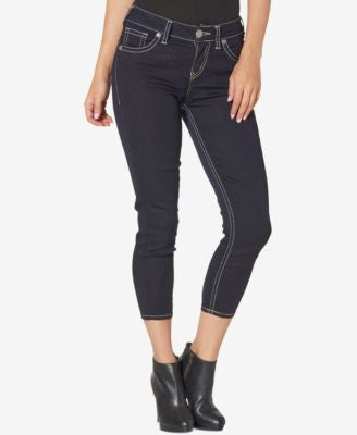 Silver Jeans Co. Suki Cropped Indigo Wash Jeans