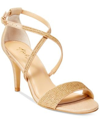 Thalia Sodi Dulce Rhinestone Strappy Evening Sandals, Only at Vogily