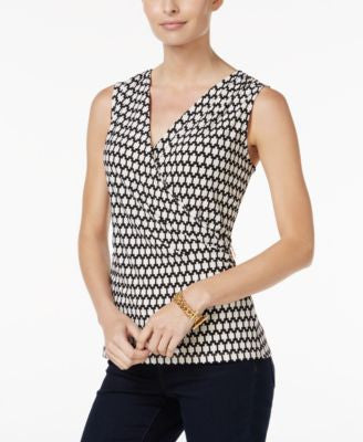 Charter Club Faux-Wrap Top, Only at Vogily