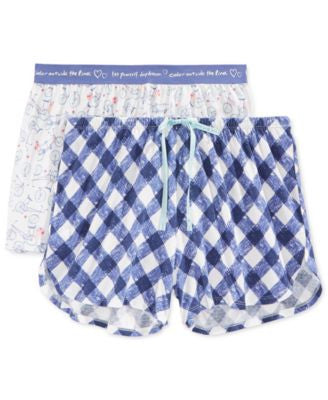 Hue 2 Pack Pajamas Shorts