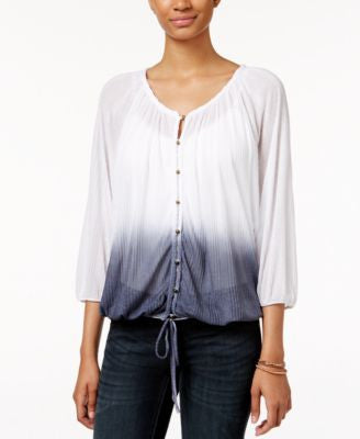American Rag Printed Peasant Top