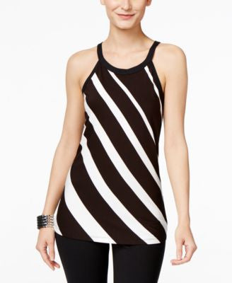 INC International Concepts Petite Striped Halter Top, Only at Vogily