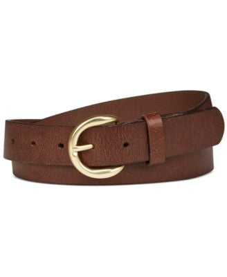 INC International Concepts Riveted Leather Pants Belt, Only at Vogily