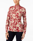 Karen Scott Printed Mock-Turtleneck Top, Only at Vogily