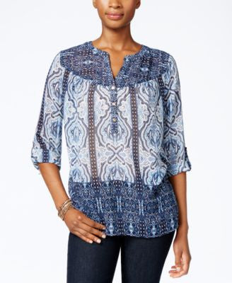 Charter Club Printed Blouse, Only at Vogily