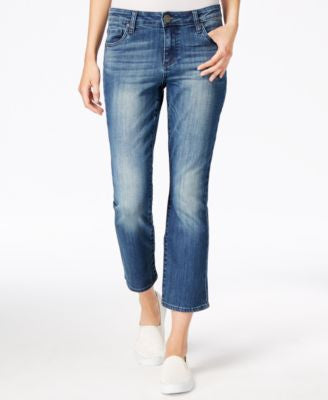 Kut from the Kloth Flare-Leg Primo Wash Cropped Jeans