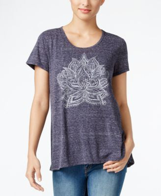 Style & Co. Petite Lotus-Print T-Shirt, Only at Vogily