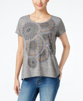 Style & Co. Petite Graphic-Print T-Shirt, Only at Vogily
