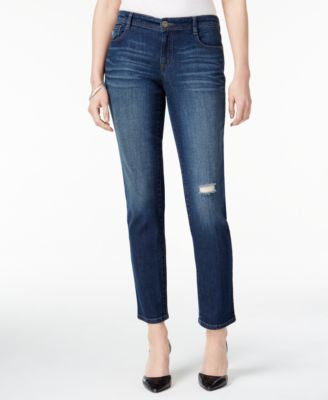 Style & Co. Petite Distressed Field Wash Ankle Jeans, Only at Vogily