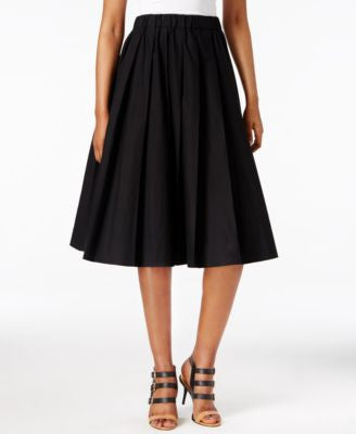MICHAEL Michael Kors Petite Pleated Pull-On A-Line Skirt
