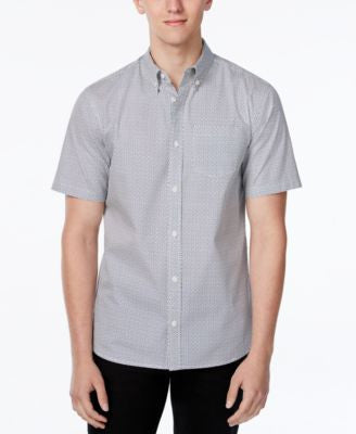 WHT SPACE Men's Geometric Print Short-Sleeve Shirt, Only at Vogily