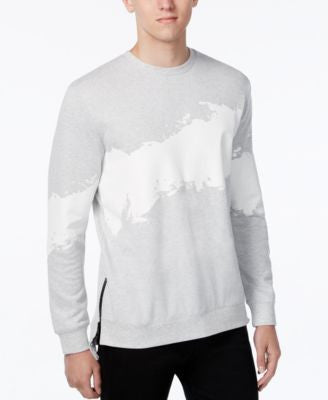WHT SPACE Men's Brushstroke Print Sweatshirt, Only at Vogily