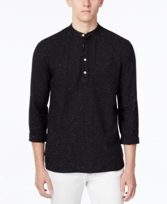 WHT SPACE Men's Flecked Long-Sleeve Henley, Only at Vogily
