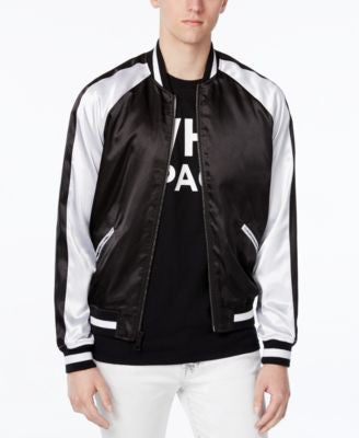WHT SPACE Men's Souvenir Bomber Colorblocked Jacket, Only at Vogily
