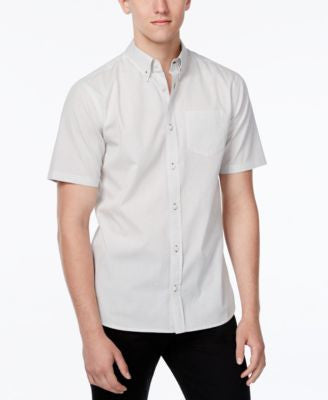 WHT SPACE Men's Micro Dot Short-Sleeve Shirt, Only at Vogily