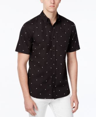 WHT SPACE Men's Sparrow Print Short-Sleeve Shirt, Only at Vogily