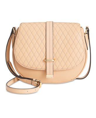 Calvin Klein Quilted Leather Saddle Crossbody