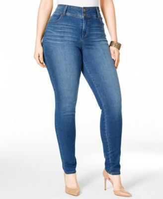 Style & Co. Plus Size Tummy-Control Breeze Wash Skinny Jeans, Only at Vogily