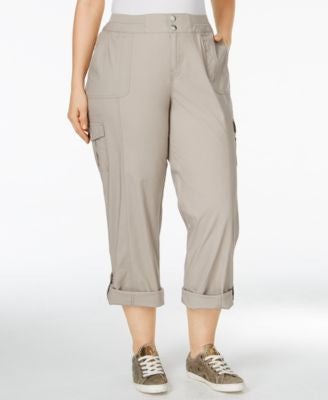 Style & Co. Plus Size Convertible Cargo Pants, Only at Vogily