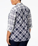 Style & Co. Plus Size Plaid Shirt, Only at Vogily