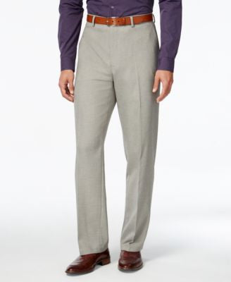 Alfani Men's Gray Flat-Front Pants, Classic Fit