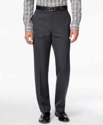 Alfani Men's Charcoal Flat-Front Pants, Classic Fit