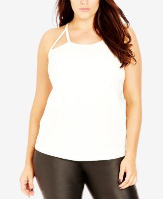 City Chic Plus Size Cutout Racerback Tank Top