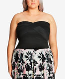 City Chic Plus Size Strapless Bandage Top