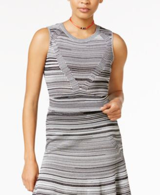 RACHEL Rachel Roy Sleeveless Knit Crop Top