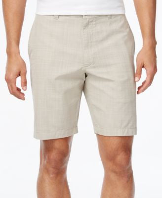Club Room Men's Big and Tall Crosshatch Flat-Front Shorts, Only at Vogily