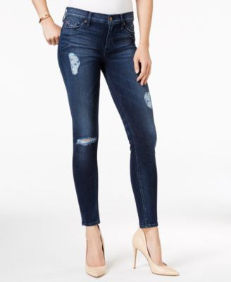 Hudson Jeans Ripped Skinny Jeans, Collin Anchor Light Wash