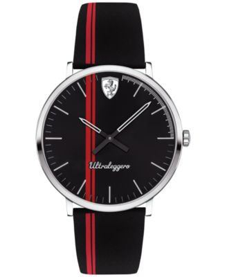 Ferrari Men's Ultraleggero Black Silicone Strap Watch 40mm 0830331