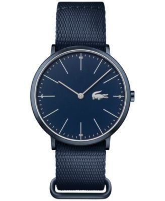 Lacoste Men's Moon Blue Nato Nylon Strap Watch 40mm 2010874