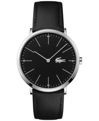 Lacoste Men's Moon Black Leather Strap Watch 40mm 2010873