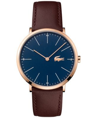 Lacoste Men's Moon Brown Leather Strap Watch 40mm 2010871