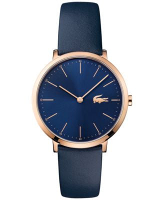Lacoste Women's Moon Blue Leather Strap Watch 35mm 2000950