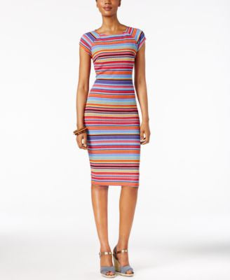 ECI Striped Sheath Dress