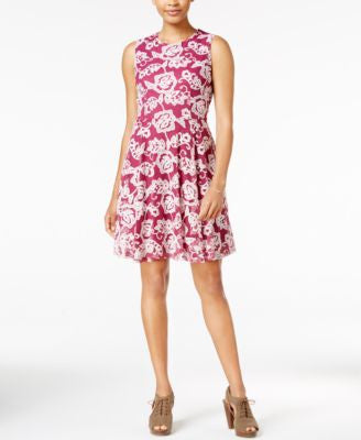 Maison Jules Embroidered Fit & Flare Dress, Only at Vogily