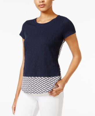 Maison Jules Layered-Look Printed Top, Only at Vogily