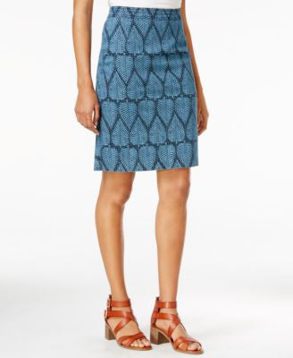 Maison Jules Printed Denim Pencil Skirt, Only at Vogily