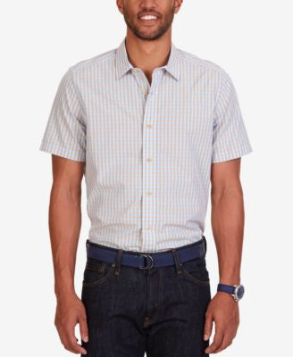 Nautica Men's Breeze Gingham Check Short-Sleeve Shirt