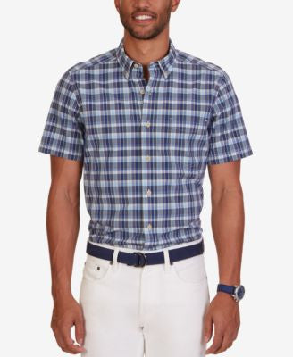 Nautica Men's Union Plaid Short-Sleeve Shirt
