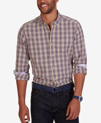 Nautica Men's Majestic Plaid Long-Sleeve Shirt