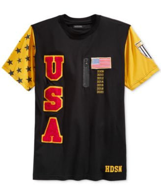 Hudson NYC Men's Olympic Graphic-Print USA T-Shirt