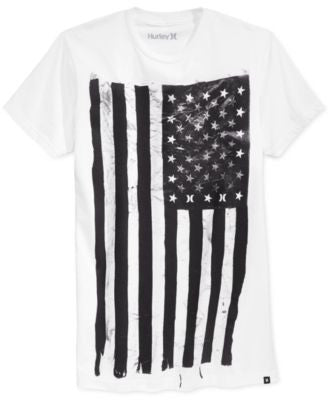 Hurley Men's American Flag Graphic-Print T-Shirt