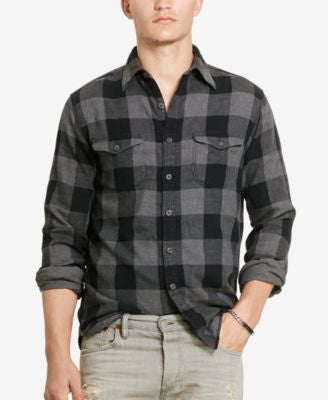 Polo Ralph Lauren Men's Long-Sleeve Plaid Twill Shirt