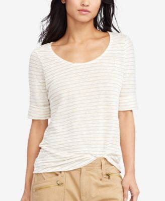 Lauren Ralph Lauren Petite Striped T-Shirt