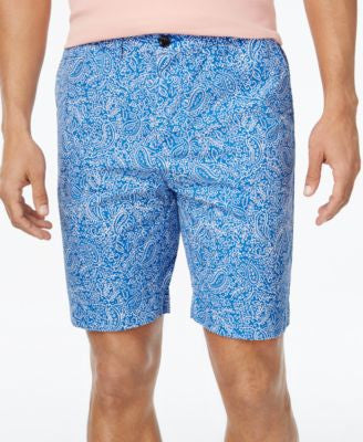 Tommy Hilfiger Men's Custom Fit Furyk Paisley-Print Shorts