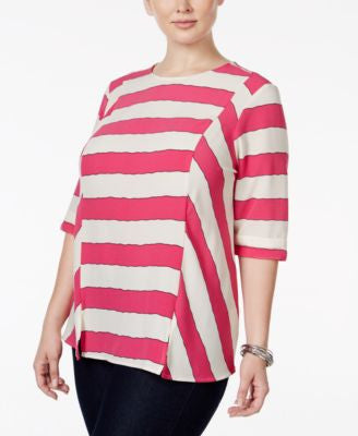 Melissa McCarthy Seven7 Trendy Plus Size Striped Blouse