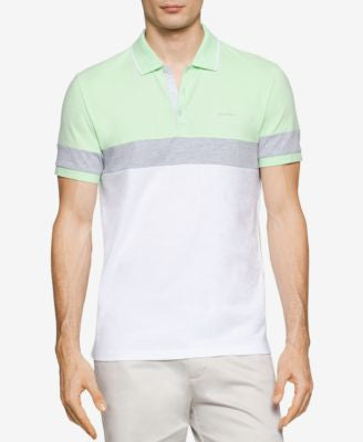 Calvin Klein Men's Pieced Colorblocked Liquid Cotton™ Polo